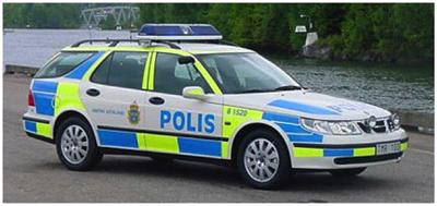 polis dekaler till bil